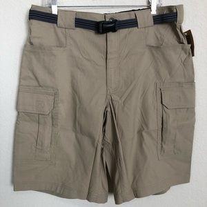 Duluth Dry on the Fly Cargo Shorts Khaki XL NWT